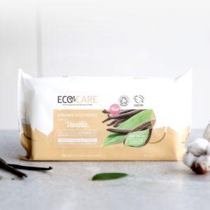 ECOCARE Organic Baby Wipes, Vanilla